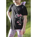 Belle & Bow Equestrian Children's Black Logo Tee