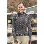 Dover Saddlery® Ladies' Cascade Tech Print Quarter-Zip Top