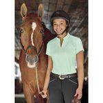 Dover Saddlery® Ladies' Jacquard Notch-V Tee