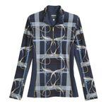 Arista® Ladies' Modern Plaid & Bits Long Sleeve Shirt