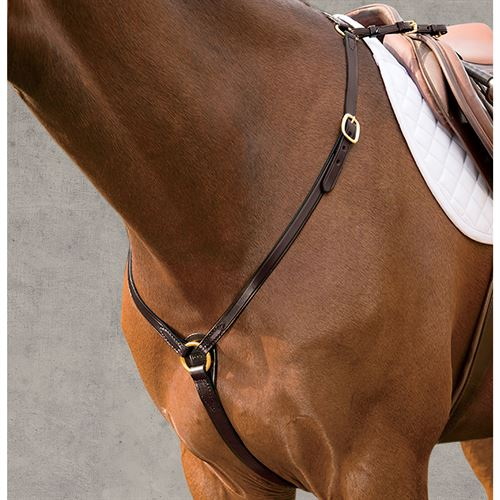 Dover Saddlery Brass Fitted Breastplate