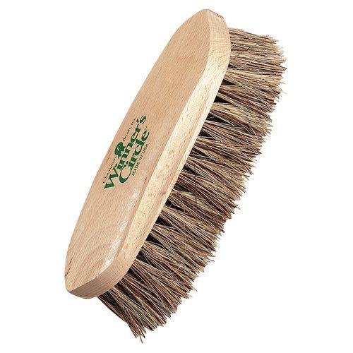 Horse Pony Stiff Bristled Wooden Cowboy Body Brush Leather Strap Handle