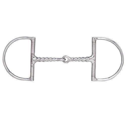 Dover Saddlery® Corkscrew Snaffle Hunter D-Ring Bit