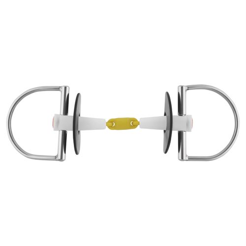 Herm Sprenger® Nathe D-Ring Snaffle Bit with 18 mm Double-Jointed Mouth
