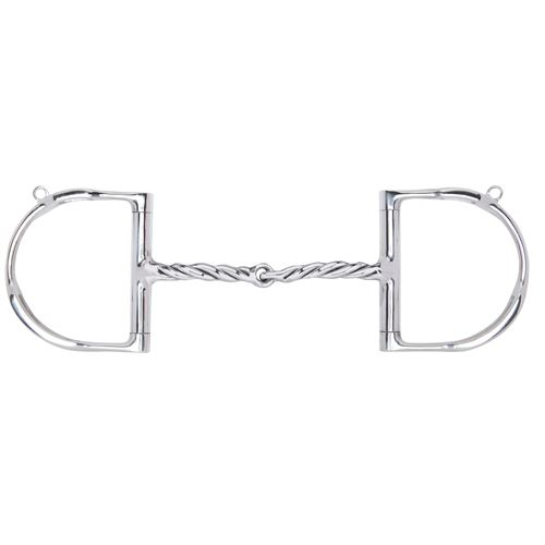Myler® English D-Ring MB 09 Twist with Hooks