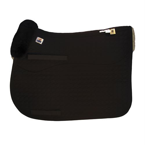 Mattes Gold Wool Square Pad with bare flaps