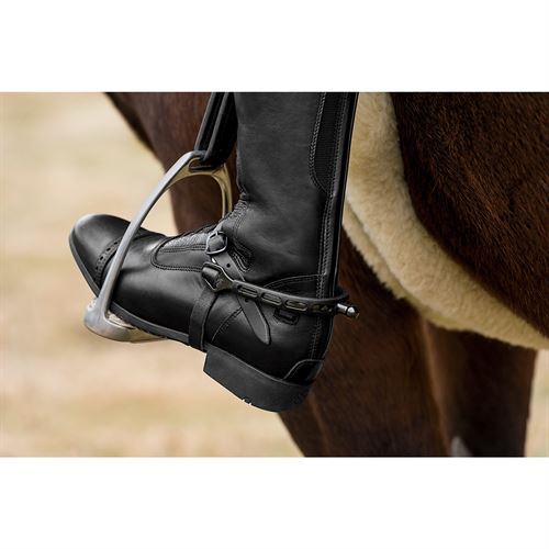Herm Sprenger Ultra Fit Extra Grip Black Knob Spurs Dover Saddlery