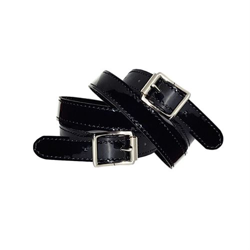 Petrie Patent Leather Spur Straps