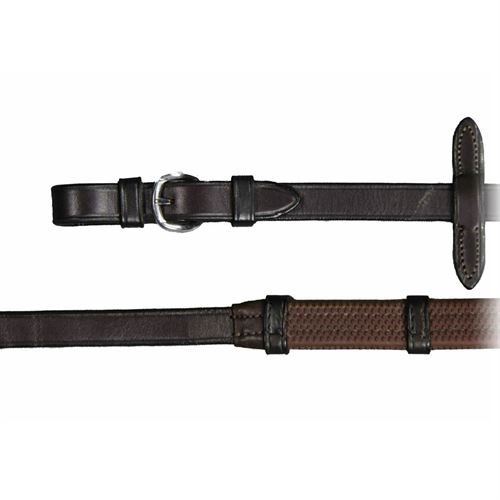 Vespucci Rubber Reins with Stops and Buckle Ends