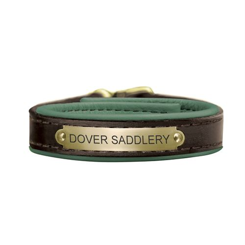 Perri S Padded Leather Nameplate Bracelet