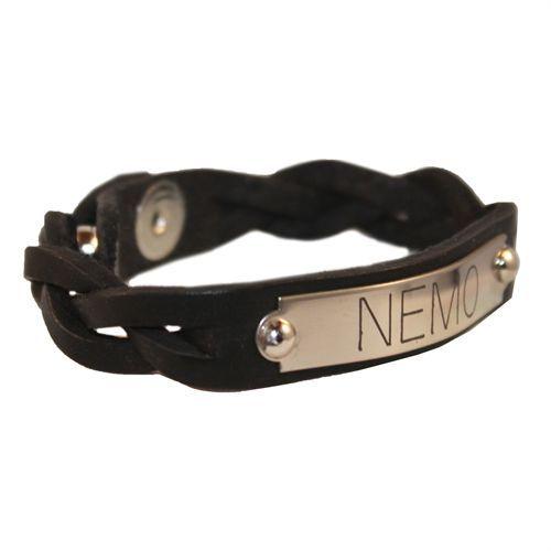 Perri's®Braided Leather Nameplate Bracelet