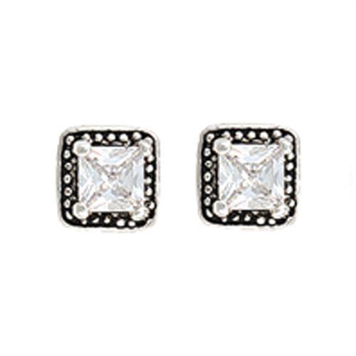 Montana Silversmiths Rhinestone Square Earrings