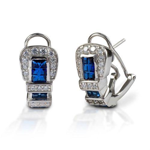 Kelly Herd Blue Ranger Style Buckle Earrings