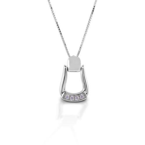Kelly Herd Small Stone Base Oxbow Stirrup Necklace