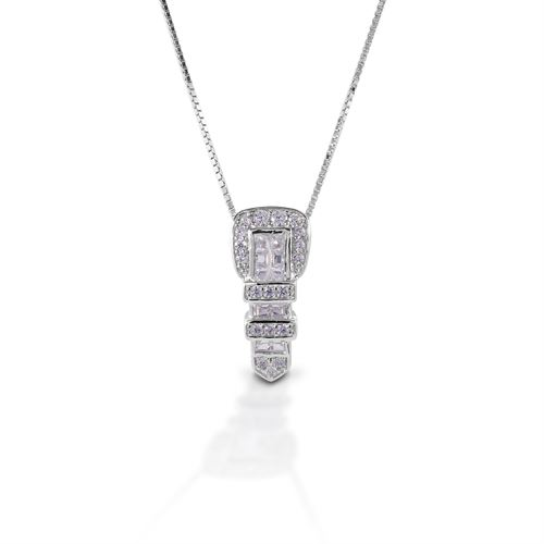 Kelly Herd Clear Ranger Style Buckle Necklace