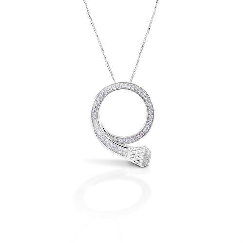 Kelly Herd Circled Horseshoe Nail Pendant Necklace