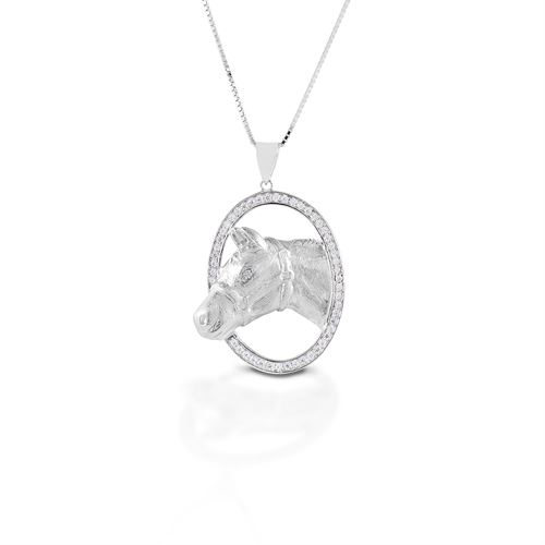 Kelly Herd Oval Halter Horsehead Necklace