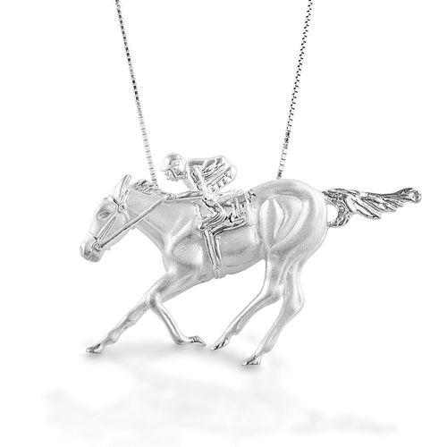 Kelly Herd Race Horse & Jockey Necklace II