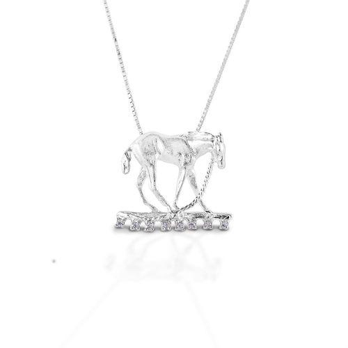 Kelly Herd Foal & Halter Pendant Necklace