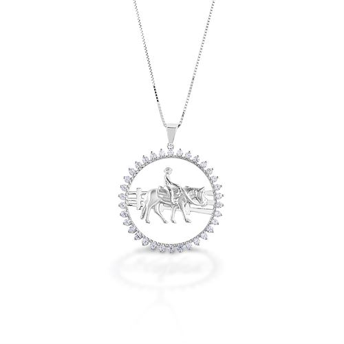 Kelly Herd Stone Circle Ranch Horse Pendant Necklace