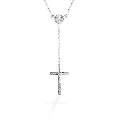 Kelly Herd Drop Cross Necklace