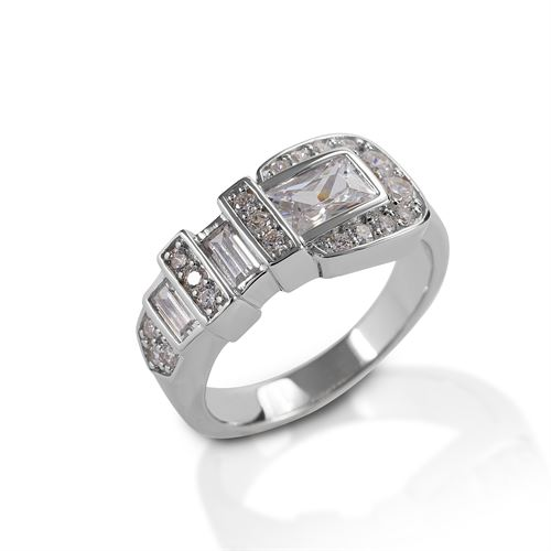 Kelly Herd Clear Ranger Style Buckle Ring