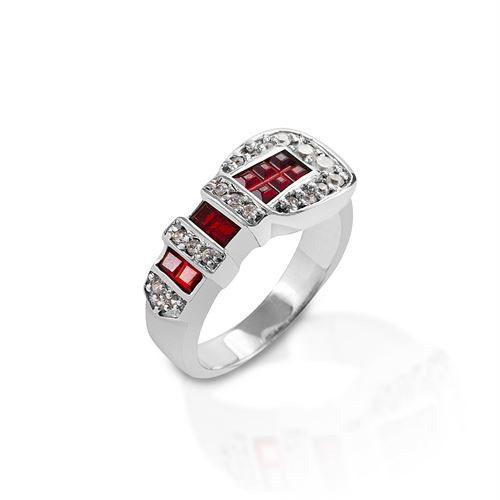 Kelly Herd Red Ranger Style Buckle Ring