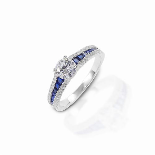 Kelly Herd Blue Spinel Engagement Ring