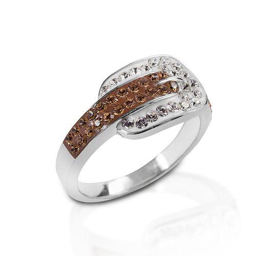 Kelly Herd Swarovski® Crystal Buckle Ring