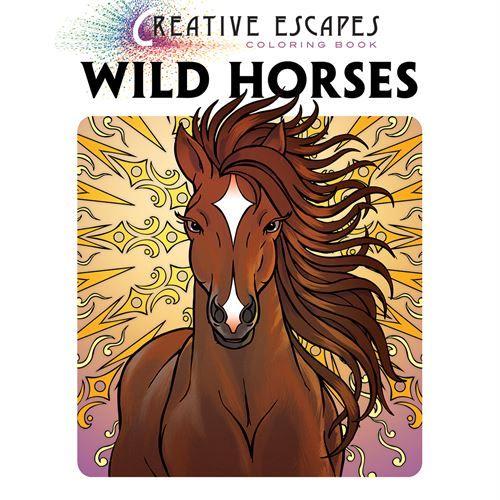 Creative Escapes Coloring Book: Wild Horses