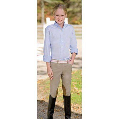 The Tailored Sportsman Girls Ts Side Zip Low Rise Breech