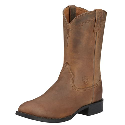 Ariat® Men's Heritage Roper Western Boots in Distressed Brown