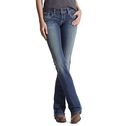 Ariat® Ladies' R.E.A.L. Mid-Rise Stretch Entwined Boot Cut Jean