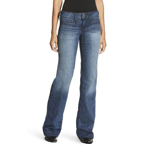 Ariat® Ladies' Trouser Mid-Rise Stretch Outseam Ella Wide Leg Jean