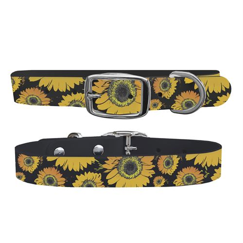 C4 Floral Medium Dog Collar