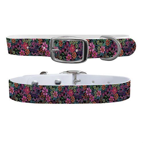 C4 Floral Large Dog Collar