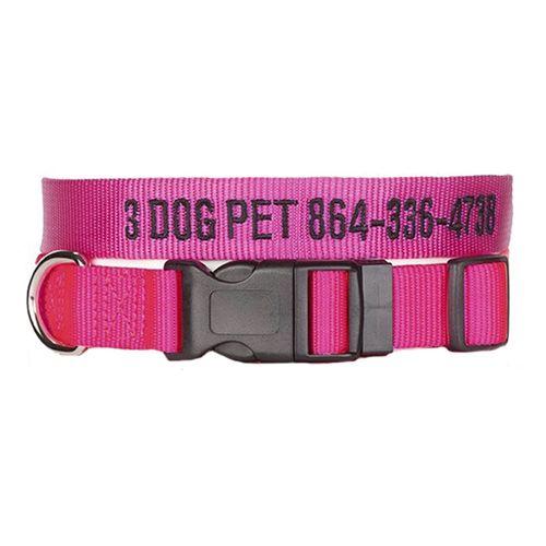 "3 Dog Pet Supply1"" Wide Personalized Adjustable DogCollar"