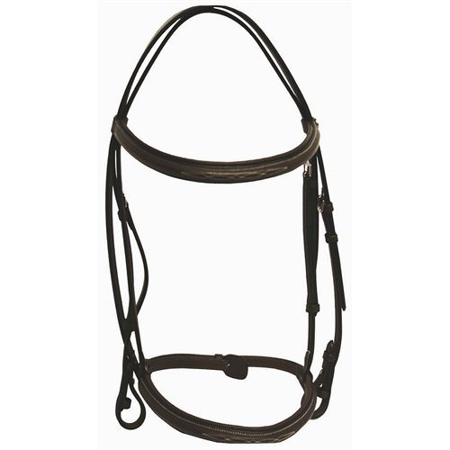 Henri de Rivel Fancy Raised Padded Bridle with Laced Reins