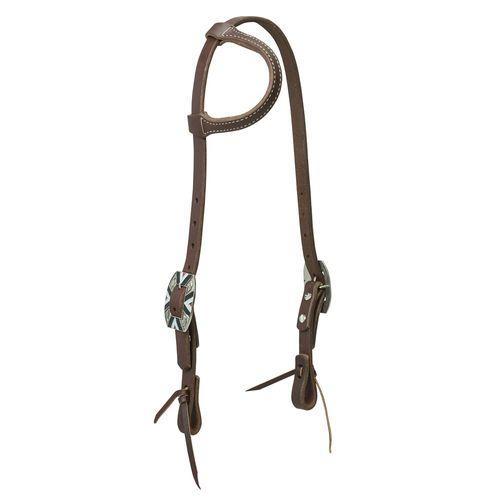 Weaver Leather® Working Cowboy Sliding Ear Headstall, Rope Edge Hardware