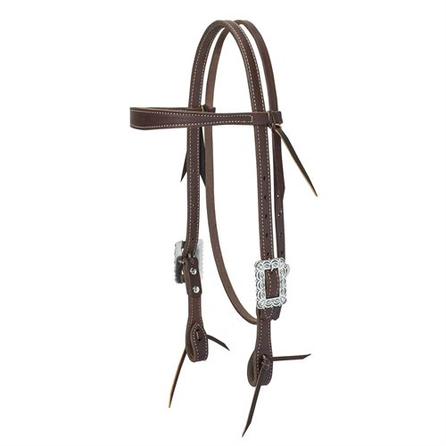 Weaver Leather® Working Cowboy Slim Browband Headstall, Scalloped Hardware