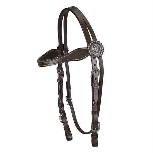 TuffRider® Western Browband Headstall Concho with Buckle Bit Ends