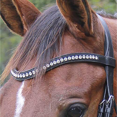 Veritas by Vespucci Contoured Browband with Swarovski® Crystals
