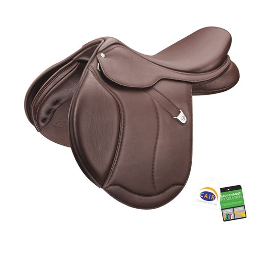 Bates Caprilli Close Contact+ Saddle with Extended Flap and Luxe Leather
