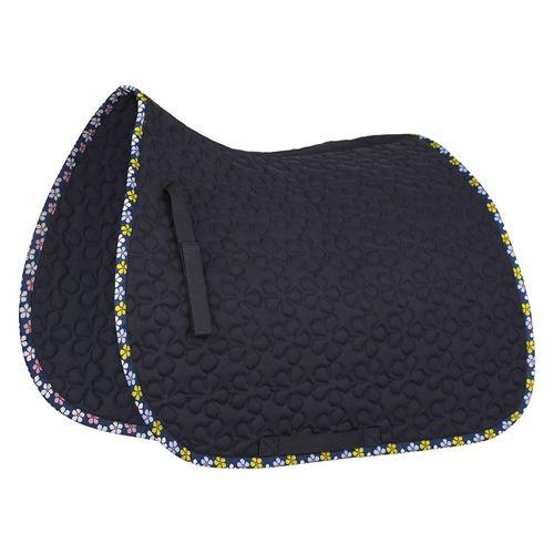 Dressage Saddle Pad with Flower Print Binding