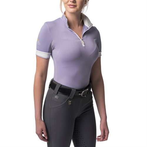 Kastel Denmark Ladies' Charlotte Signature Short Sleeve Quarter-Zip Shirt
