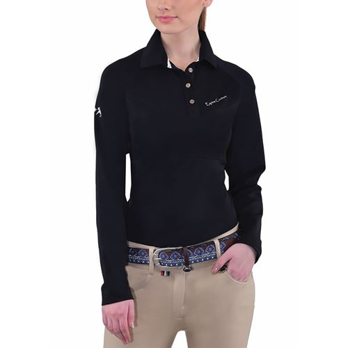 Equine Couture™ Ladies Performance Long Sleeve Polo Sport Shirt