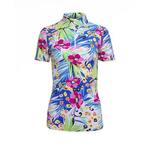 IBKUL™ Ladies' Annie Short Sleeve Zip Mock Shirt