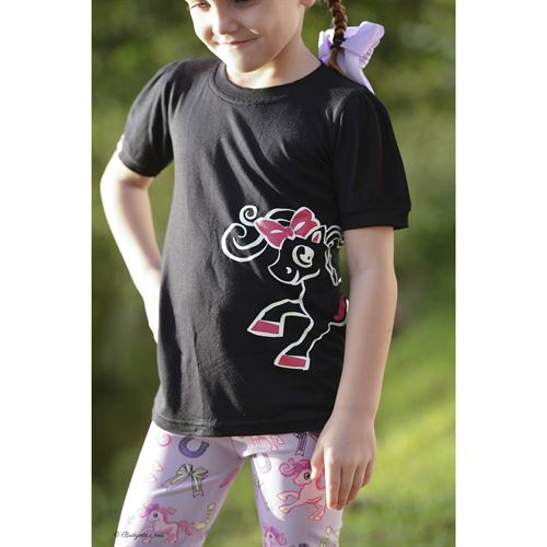 Belle & Bow Equestrian Childrens Black Logo Tee