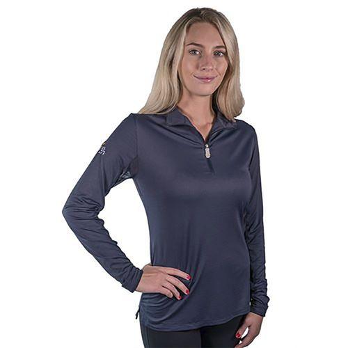 Kastel Denmark Ladies' Charlotte Signature Long Sleeve Quarter-Zip Shirt