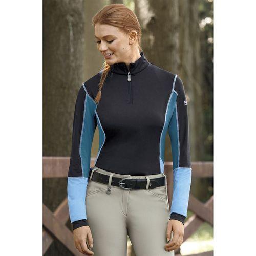 Kastel Denmark Ladies' Color Block Long Sleeve Quater-Zip Shirt